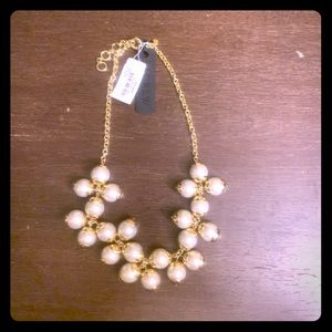 NWT - J.Crew Bubble Pearl Gold Necklace